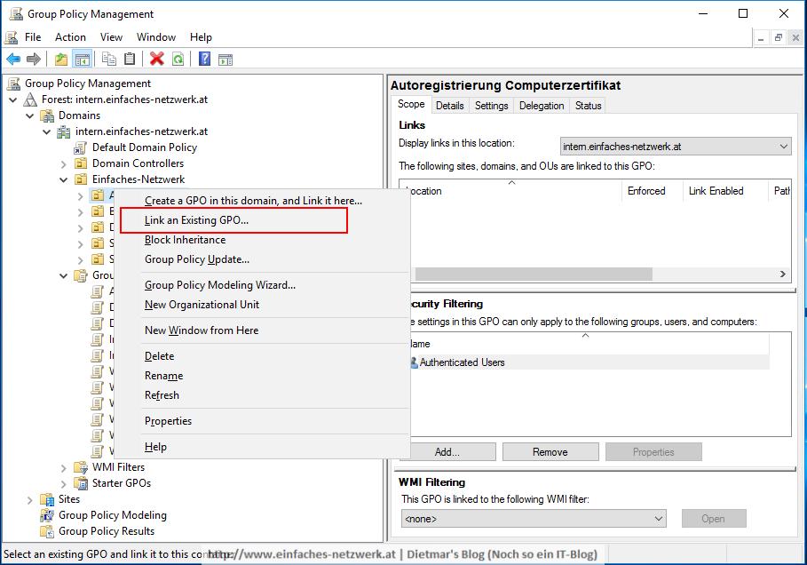 Always On VPN - Verwaltung der Zertifikate - Ein einfaches
