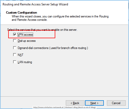 Always On VPN - Remote Access Server konfigurieren - Ein